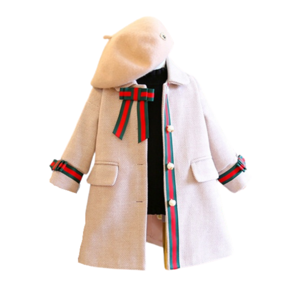 trendy toddler girl clothestan pink red green outerwear formal coat